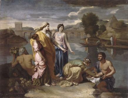 Moise sauvé des eaux, Nicolas Poussin, 1638