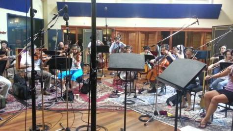 Soodhu Kaavum, recording session by Sydney Orchestra